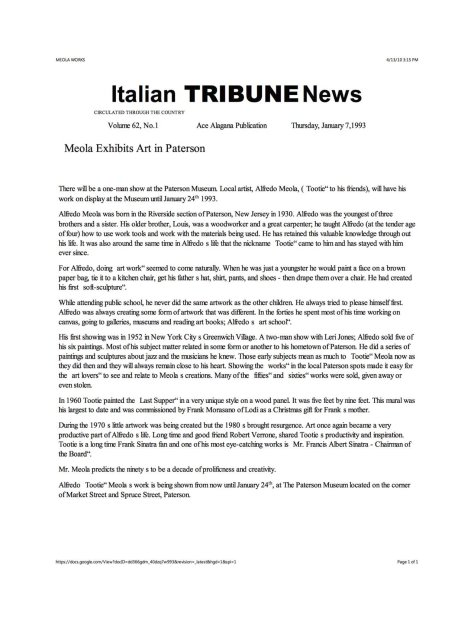 Italian Tribune writeup