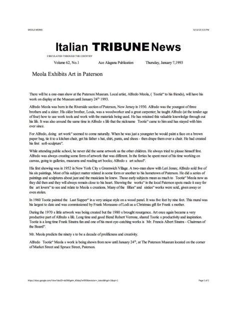Italian Tribune writeup